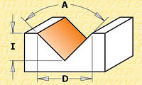 Фреза CMT для V-образного гравирования со сменным ножом A90-D17-l8,5-L53-z1-s6,35