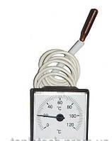 Термометр квадратный 45х45 0-120° с капиляром 1м.