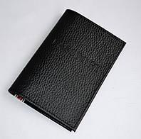 Обложка для паспорта черная с кредитницей