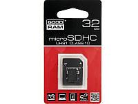 Карта памяти micro-SD HC 32GB+adapter SD GOODRAM (class 10)