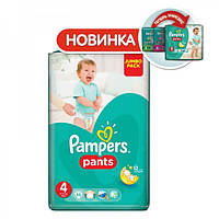 Подгузники-трусики Pampers Pants 4 (9-14 кг.) 52 шт