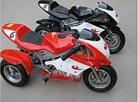 Трёхколёсный детский электромотоцикл VOLTA Трайк HL-G69E красный, мотор 350W