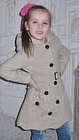 Детское кашемировое пальто на девочку, р. 30 и 32