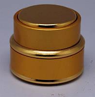Баночка круглая золотистая элитная 15 грн YRE TTM-14, красивые пустые баночки для косметологов