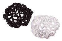 Аксессуары для гульки; сеточка вязаная, 20 штук в упаковке(10 белых 10 черных)