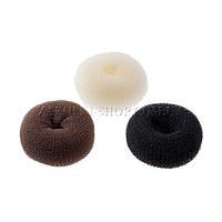 Аксессуары для волос;Валик для прически,бублик,Bun Maker (для увеличенния объема волос), диаметр: 9 см, 12шт