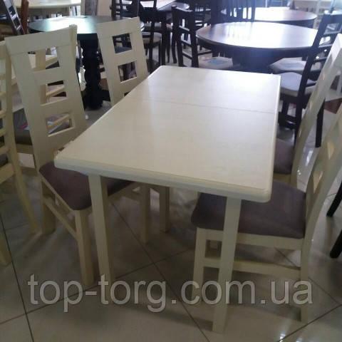 Стол Сид орех, венге, беж, белый 120(+30)х70см ,прамоугольный раскладной