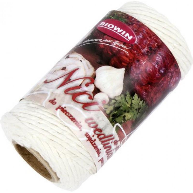 Колбасные нити - хлопковые белые, BIOWIN