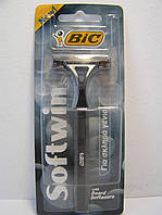 Станок мужской одноразовый BiC Softwin 1 шт. Бик софт твин Оригинал