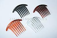Гребешок для волос, 4 цвета в упаковке, длина: 11 см, 12 штук