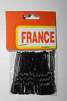 Набор шпилек для волос, чёрные, 6 см, 40 шт