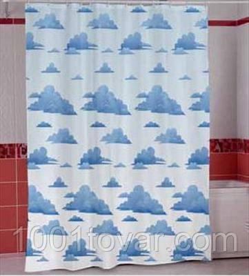 """Шторка для ванной комнаты """"Cloudy"""", Miranda. Производство Турция."""