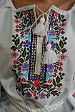 """Вышиванка женская на домотканом """"Марийкин цветник"""", 42-60 р-ры, 630/580  (цена за 1 шт. + 50 гр.), фото 4"""