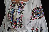 """Вышиванка женская на домотканом """"Марийкин цветник"""", 42-60 р-ры, 630/580  (цена за 1 шт. + 50 гр.), фото 7"""