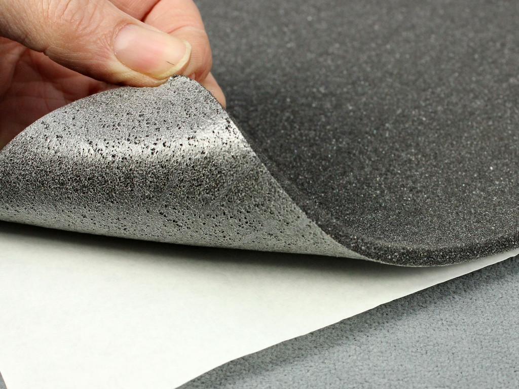Антискрип Лайт 5К, лист 48х100 см, толщина 5 мм, прокладочный, антискрипный, звукопоглощающий материал