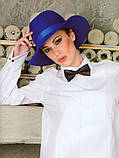Шляпка с полями  из фетра под мужской стиль, фото 2