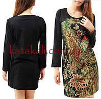Платья черное с бисерной вышивкой