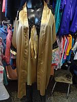 Атласные комплекты (ночная сорочка+халат) золото