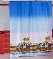 "Шторка для ванной комнаты ""Dolphin Beach"", Miranda. Производство Турция."