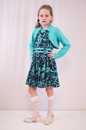 Детское красивое, нарядное платье с цветочным принтом и с болеро., фото 2