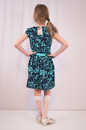 Детское красивое, нарядное платье с цветочным принтом и с болеро., фото 3