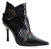 Ботинки женские весна осень из натуральной кожи на каблуке 40 1b983f7df6f81