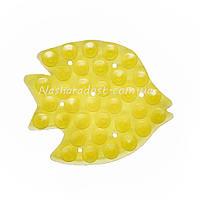 Полочки липучки с присоской с двух сторон Рыбка желтая
