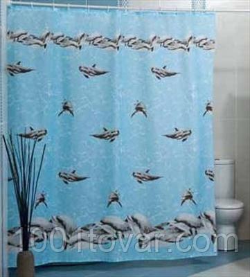 """Шторка для ванной комнаты """"Dolphinarium"""", Miranda. Производство Турция."""