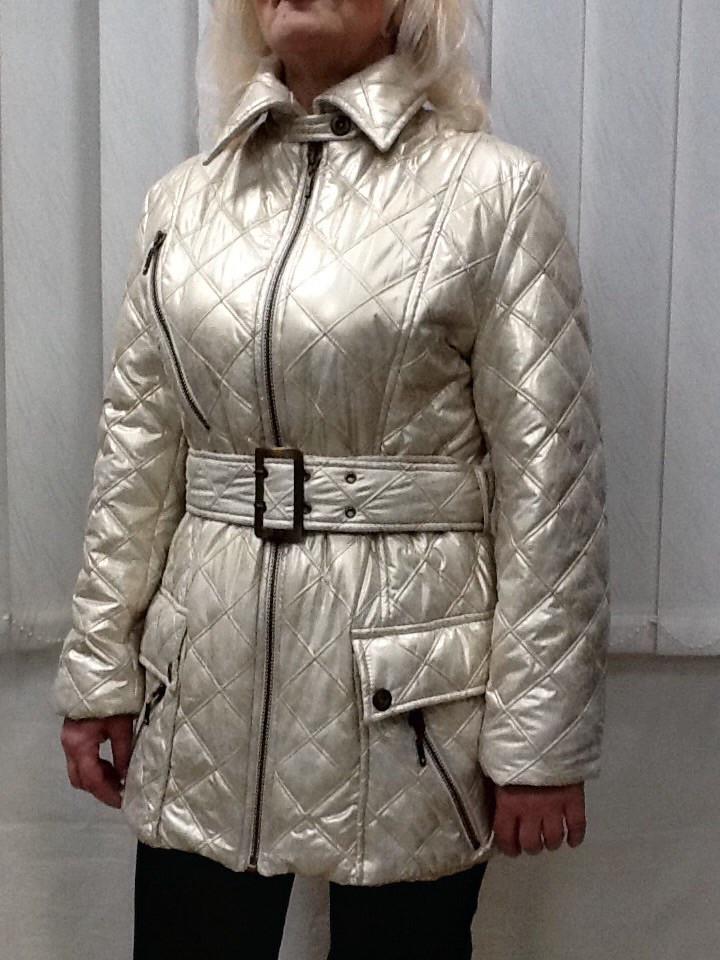 Куртка Balizza средней длинны светлая золотистая
