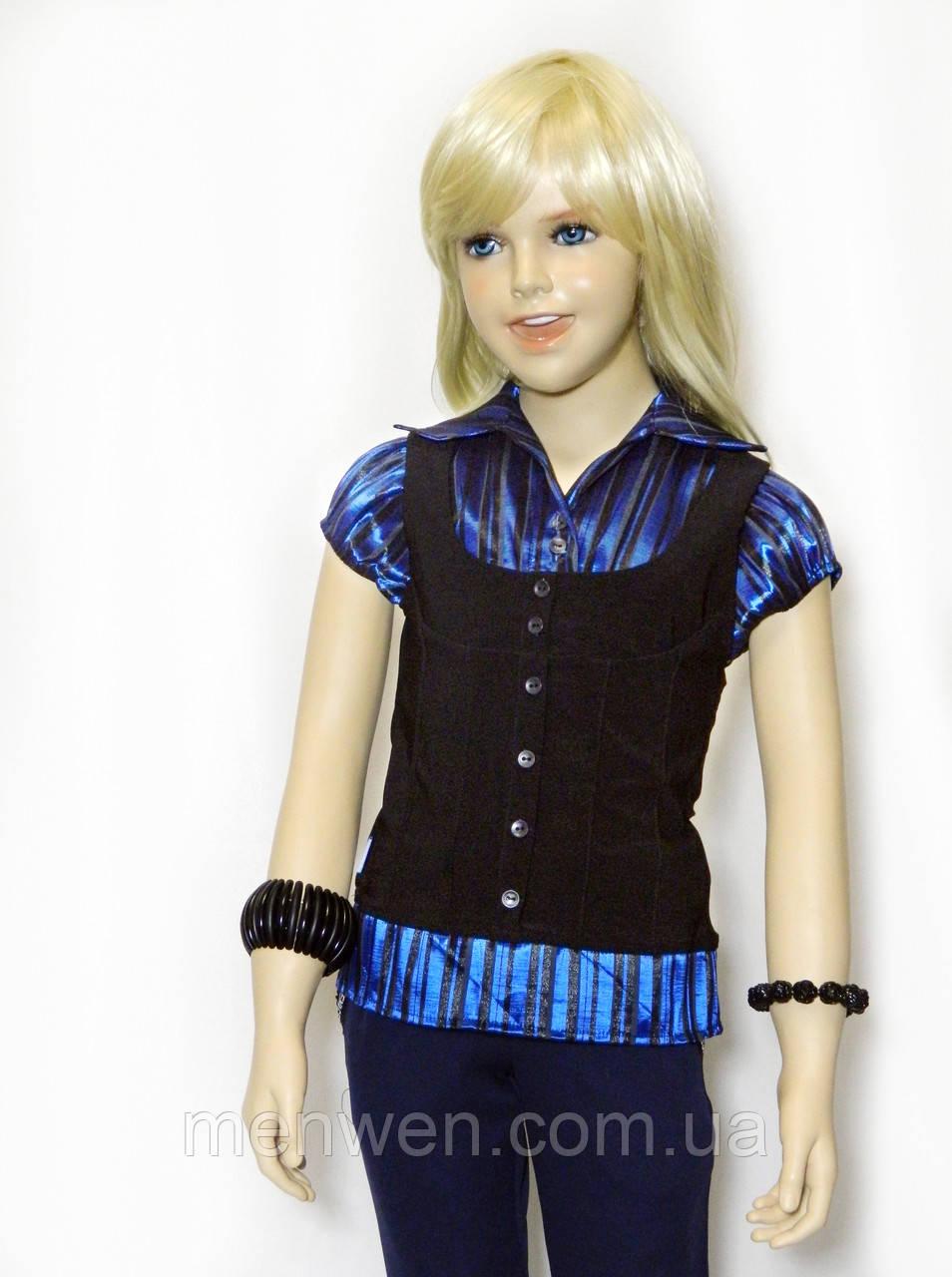 b089e0acf42 Школьная рубашка - обманка 6-11 лет - MenWen - Одежда для детей и всей