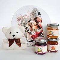 Дегустационный набор с мишкой. Подарок на День Святого Валентина