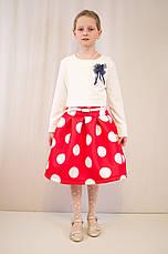 Детское оригинальное, нарядное платье  из фактурного трикотажа., фото 2