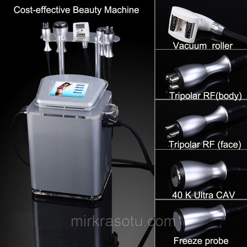 Аппарат Slim-4 вакуумно роликовый аппарат + Кавитация, + Триполяр РФ лифтинг + Криотерапия