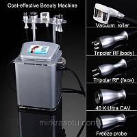 Аппарат Slim-4 вакуумно роликовый аппарат + Кавитация, + Триполяр РФ лифтинг + Криотерапия, фото 1