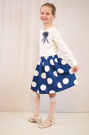 Детское стильное, нарядное платье  из фактурного трикотажа., фото 2