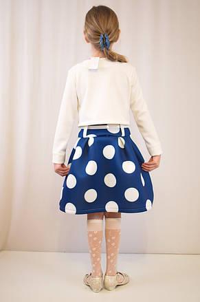 Детское стильное, нарядное платье  из фактурного трикотажа., фото 3