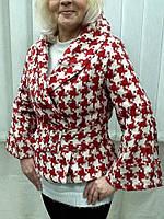 Куртка пиджак женский с поясом клеш рукав LUX копия бренда, фото 1