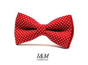 Галстук-бабочка I&M Craft красный детский (010512k)