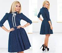 Стильное платье юбка клёш с орнаментом джинсовое Арт.-5125/48