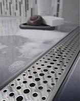 Душевой трап 65 см MCH CH-650D с решеткой Капли, полированная сталь Чехия