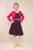 Детское модное, нарядное платье с  болеро.