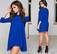 Ярко синее платье - туника трикотажное Арт.-5130/48