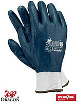 Защитные перчатки покрытые нитрилом с резинкой, синие, компании Рейс Blutrix
