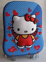 Детский чемодан на 6 колесах Hello Kitty