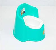 """Горшок-кресло детский - съёмный стакан - цвет бирюзовый """"K-PLAST"""""""
