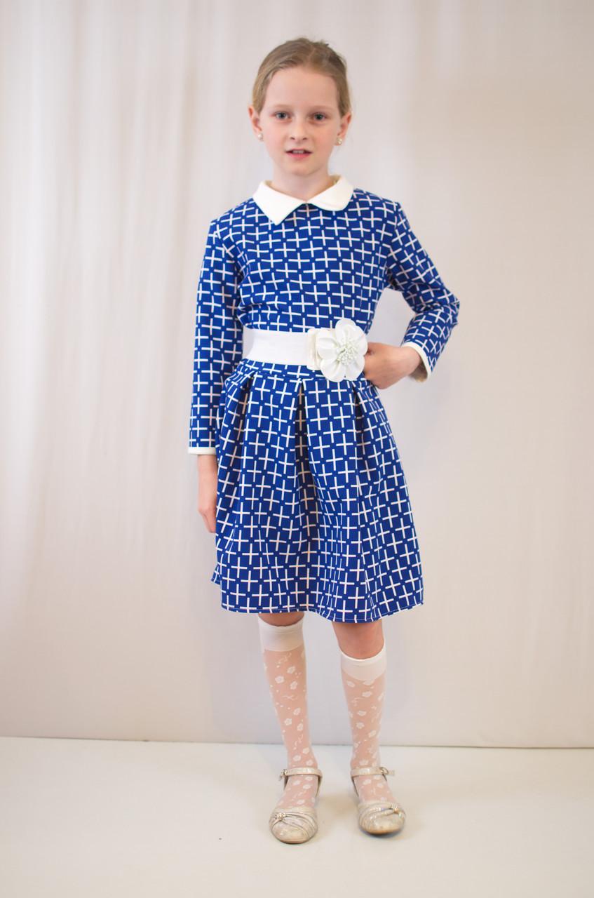 Детское стильное, нарядное, праздничное платье с поясом.