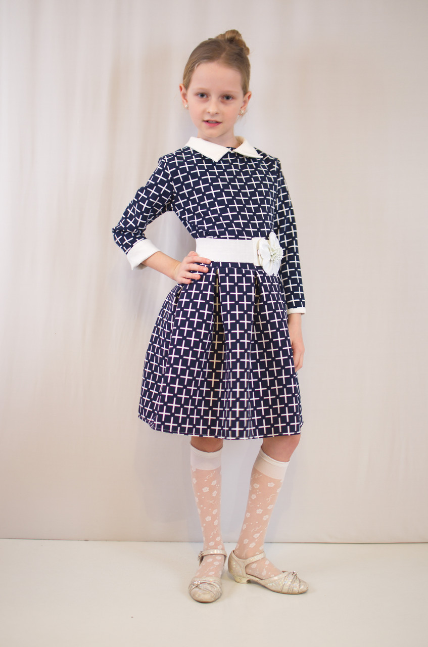 Детское  нарядное, праздничное платье с поясом.