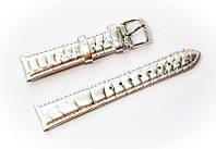 Ремешок кожаный Bros Cvcrro a Mano для наручных часов с классической застежкой, серебристый, 18 мм