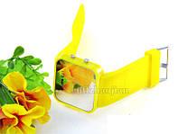 Led зеркальные наручные часы/желтые