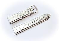 Ремінець шкіряний Bros Cvcrro a Mano для наручних годинників з класичною застібкою, сріблястий, 22 мм